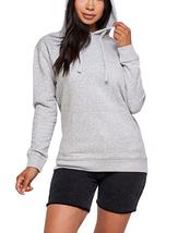 Women's Soft Lightweight Pull Over Sweatshirt Casual Drawstring Hoodie Sweater image 14