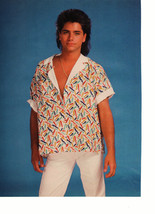 John Stamos Kirk Cameron teen magazine pinup clipping white pants cool shirt