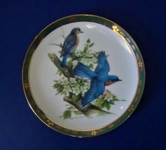 Danbury Mint Robert Tory Peterson Bluebirds Plate from the Songbirds Collection - $8.99