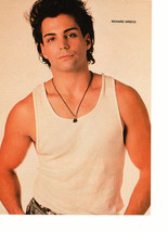 Richard Grieco teen magazine pinup clipping muscles white t-shirt necklace