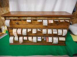 Antique Oak Pharmacy Apothecary Label Dispenser L@@K - $797.45
