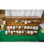 Antique Oak Pharmacy Apothecary Label Dispenser L@@K - $797.45