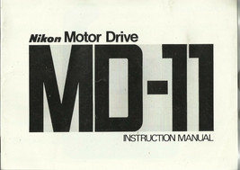 Nikon FM MD-11 Motor Drive English OEM Instruction Manual/Booklet - $6.75