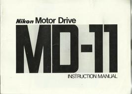 Nikon FM MD-11 Motor Drive English OEM Instruction Manual/Booklet - $6.75