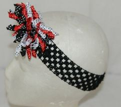 Unbranded Girl Infant Toddler Headband Removable Hair Bow Red Black White image 3
