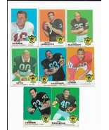 1969 Topps Oakland Raiders Team Set with Blanda, Lamonica, Otto, Davidson - $59.65