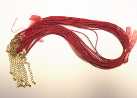 Necklace Cord Woven Red Set of 10 - $4.50