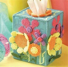 Z817 Plastic Canvas PATTERN ONLY Summer Floral Boutique Tissue Cover Pat... - $7.50