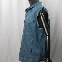 Levis Camionero Denim sin Mangas Jean Jacket XL Color Azul Índigo 4 Bolsillos image 2
