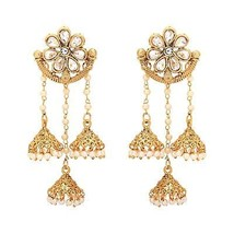 Indian Bollywood Style Traditional Gold Plated Bridal Fashion Jewelry Ea... - $24.06