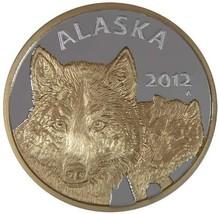 Alaska Mint Official State Medallion 2012 Silver Medallion Proof 1Oz - $178.19