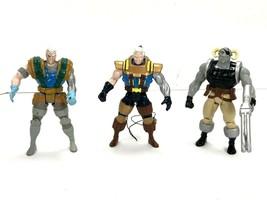 X-Force Toy Biz Lot Of 3 Cable Quark Loose X-Men Vintage Action Figures ... - $8.21