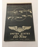 Vintage Matchbook Cover Matchcover US Unites States Air Force Gray - $4.28