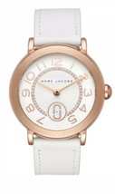 Marc Jacobs MJ1616 Riley Rose Gold-Tone and White Leather 37mm Watch $225 - $108.00