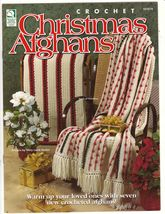 Christmas Afghans Crochet Patterns Blankets Throws Holidays Festive Home Decor - $8.00