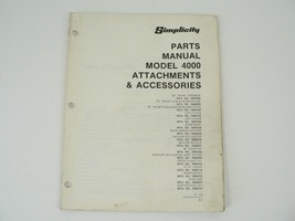 Vintage 1976 Simplicity Parts Manual Catalog Model 4000 Attachments/Accessories - $25.00