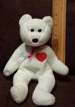 Ty Valentino Rare Brown nose Heart Bear 1993 (ERROR no any mark inside the tush) - $5.99