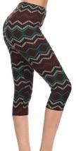 Leggings: Capri Super Soft One Size 2-14 Tribal Multi Mid Calf Length - $8.87