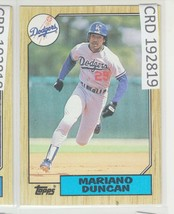 1987 Topps Mariano Duncan SS Dodgers #199 192819 - $1.86