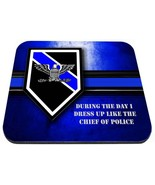 thin blue line police chief rank blue and black mouse pad made in usa - $18.99