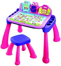 VTech Touch and Learn Activity Desk Deluxe, Pink - $74.43