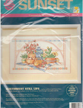 Southwest Still Life Sunset Cross Stitch Kit Cactus Indian Native American Craig - $28.97