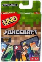 UNO Minecraft Card Game Family Friends Entertainment Kids Happy Fun Grea... - $11.54