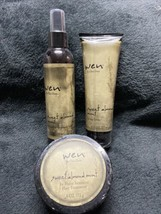 Wen Sweet Almond Mint Set Cleansing Conditioner Styling Creme Hair Treatment New - $39.99