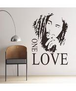 Bob Marley One Love Removable Art Wall Sticker Decal Mural - $21.00