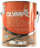 1 Gal. Olympic Wood Protector Waterproofing Stain Semi Transparent Natur... - $32.99