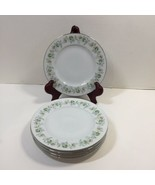 "5 Bread Plates 6"" Forever Spring Johann Haviland Barvaria Germany - $14.50"