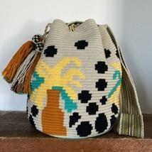 Authentic 100% Wayuu Mochila Colombian Bag Large Size Coconut Palms Summery - $89.00