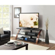 "Deluxe Multimedia TV Stand Modern Style 3-in-1 Flat Panel 65"" Brown Cherry - $177.00"