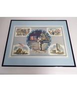 VINTAGE 1974 US History Moon Landing Jesse Owens Framed 16x20 Poster Dis... - $79.19