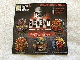 Scream Factory - Original Promo Pin Set Of 4 Sdcc 2017 Texas Chainsaw Howling - $14.69