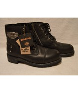 Harley Davidson Riding Boots Women's Size 9 Ankle Black Lace-Up Zip Side... - $123.75