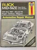 Haynes Buick Repair Manual 627, 1974 through 1987 Rear Wheel Drive models V6 V8 - $16.78