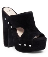 Women's Jessica Simpson Wynne Sandals, Sizes 6-9.5 Black Lux Suede JS-WYNNE - $99.95