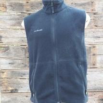 Columbia Fleece Full Zip Vest Jacket Mens Black Size L - $19.79