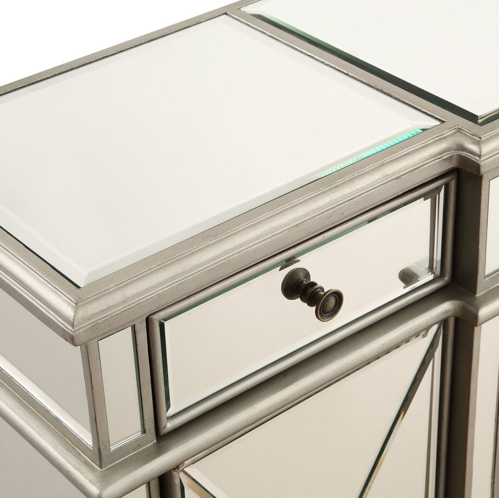 Buffet Table Server Sideboard Mirrored Cabinet Storage Drawers Doors China Home image 4