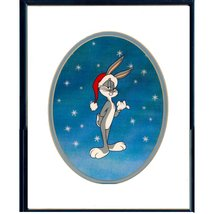 Bugs Bunny Christmas Warner Brothers Animation Cel FRAMED - $775.00