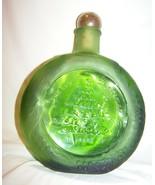 "1971 Green Wheaton Glass Merry Christmas Tree Bottle w/Gold Stopper-8 "" ... - $15.00"