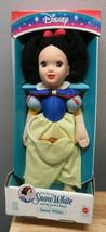"1993 MATTEL DISNEY 15"" Plush Vinyl SNOW WHITE Doll Seven Dwarfs BUNNY Po... - $79.19"