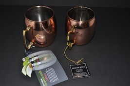 2x HAMMERED MOSCOW MULE ~  GENUINE COPPER PLATED  MUG ~ ONE 14 OZ. & ONE... - $24.18