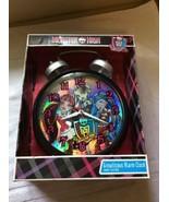 "New 2013 12"" Monster High Growlicious Alarm Clock Jumbo Twin Bell Quartz... - $29.95"