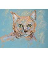 Tabby Cat Art Pastel Drawing Solomon - $89.00