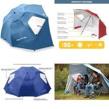 Outdoor All Weather Umbrella Portable Sun Shelter  XL 9 Feet Canopy Blue - $63.10