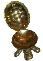 Vintage Tortoise Turtle Figurine Hinged Brass Trinket Box Miniature Statuette image 6
