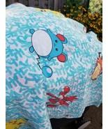 Vintage 1998 Nintendo Pokemon Twin Bed Flat Sheet Crafting Mask Material - $17.09