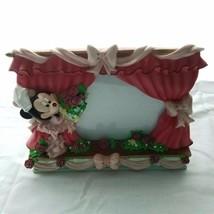 "Disney Minnie Mouse Ballerina Pink Ceramic Photo Frame 4"" x 4"" Stand Up - $20.00"